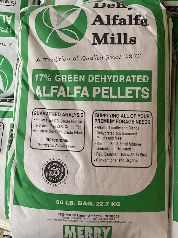 Dehydrated Alfalfa PELLTE